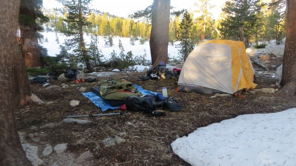 Camp near Young Lakes trail