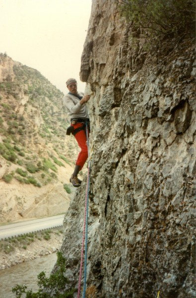 Layton in Glenwood Canyon circa 1988.