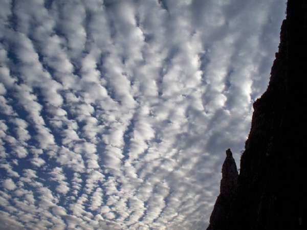 Cloud pattern over the Potrero Chico