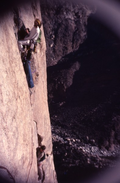 "An early (1976) ascent of the ""Happy Hooker"" a south face grade V"