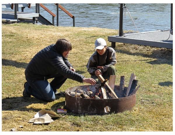 picnic campfire
