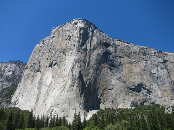 El Capitan today from the meadow.