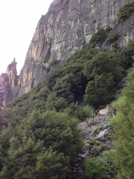 Looking back at Arrowhead Spire. This photo is taken when off route. T...