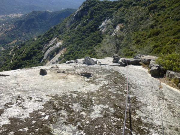 View from above where the large boulder fell.  Original resting place ...