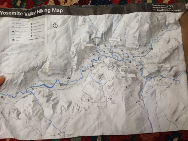 Map we used on Indian Creek Trail adventure