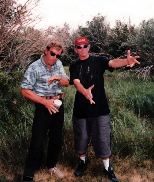 Dave Yerian and John Bachar, Mono County Park, 199???