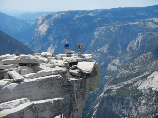Mike Moody and Jim Helling on Half Dome