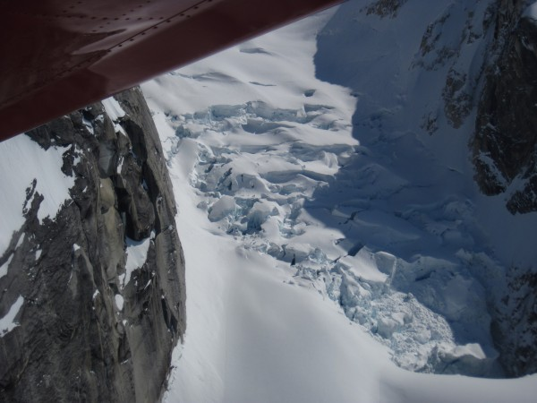 Rather than being delivered by TAT to the Root Canal Glacier, climbers...