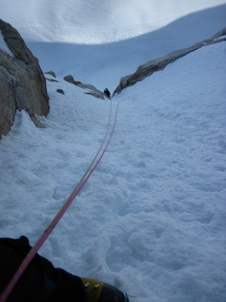 My lead was a bit of steep ice (below Steve in this pic) follo...