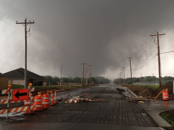 Moore F5 tornado approaching Moore, OK. It grew to F5 status when I bu...