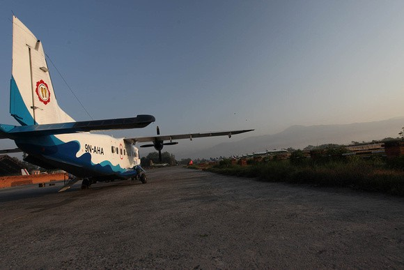 Heading to Lukla - we took this plane and a few months later it crashe...