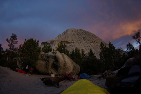 The waking up shot--looking forward to a perfect day of cragging.