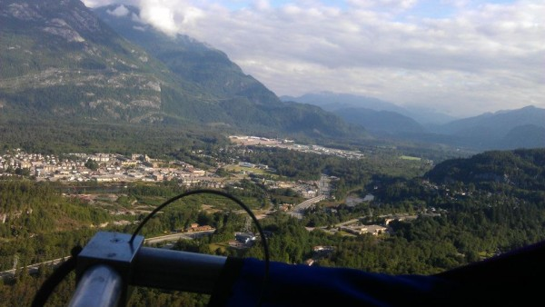 View of Squamish from the ledge