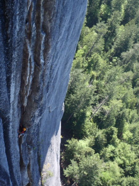 Dugillian getting to the crux in a TOTALLY NO TILTED AT ALL ;) photo