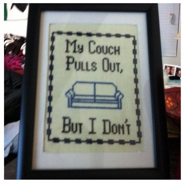 Thanks for teaching me needlepoint grandma.