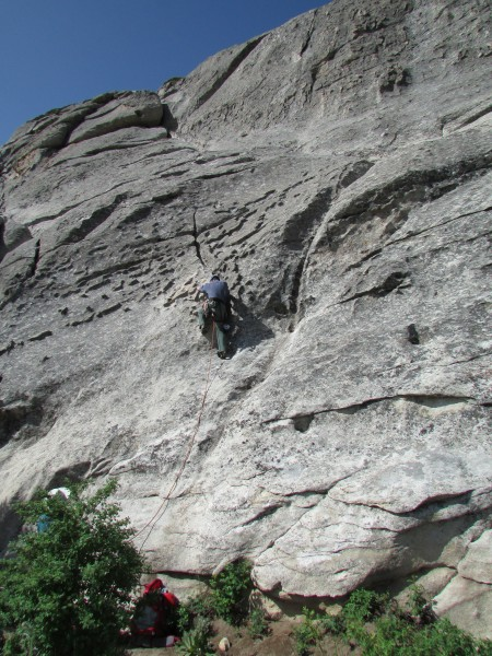 Ralph Tingey leading the start to Cowboy/Cowgirl Routes on the East Si...