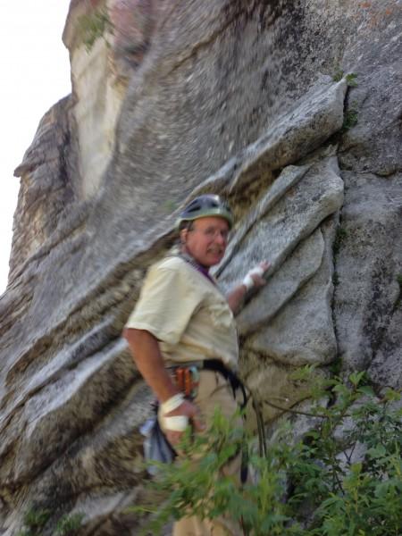 Fritz on a castle rock 5.9