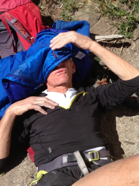 """The Donini crag bivy, prior to an """"Alzheimer's check"""" for gear :)"""