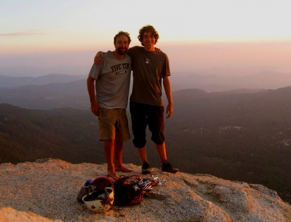 Me and my son, summit of Tahquitz - 2006