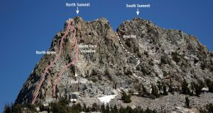 Crystal Crag - North Arete 5.7 - High Sierra, California USA. Click to Enlarge