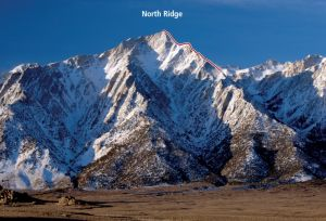 Lone Pine Peak - North Ridge 5.5 - High Sierra, California USA. Click to Enlarge