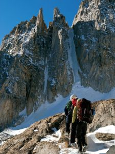 North Peak - Northeast Couloir AI 2 4th Class - High Sierra, California USA. Click to Enlarge