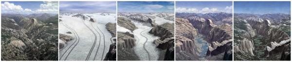 Yosemite Valley glaciation series