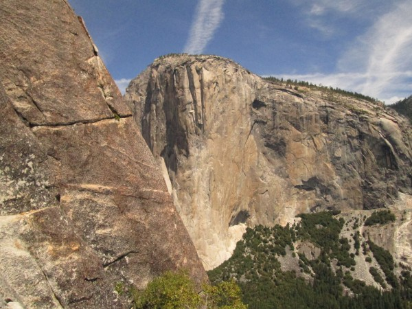 El Cap from 10th pitch of East Buttress of Middle Cathedral