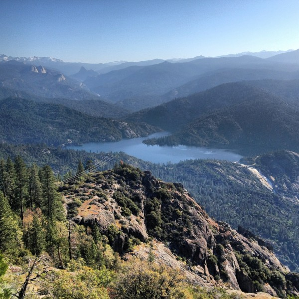 A lifetime of routes above Mammoth Pool.  Balloon Dome is out there to...