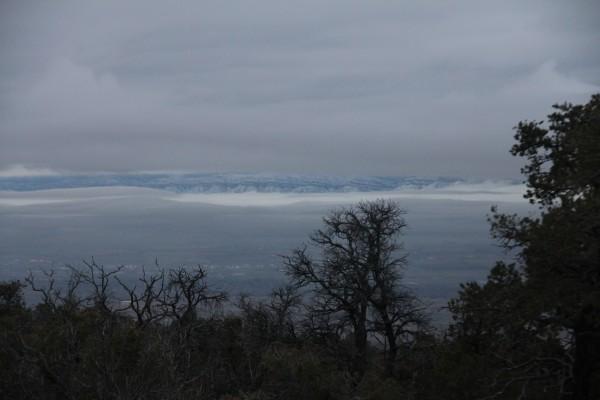 Snowy Bookcliffs in the distance.