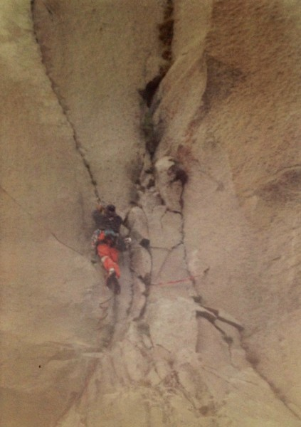 Me on the second to last pitch, The Nose 6/1992