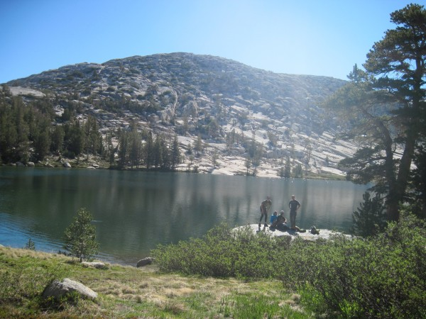 budd lake on the way to the crest