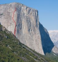 El Capitan - Lost World/Squeeze Play A3 5.7 - Yosemite Valley, California USA. Click to Enlarge