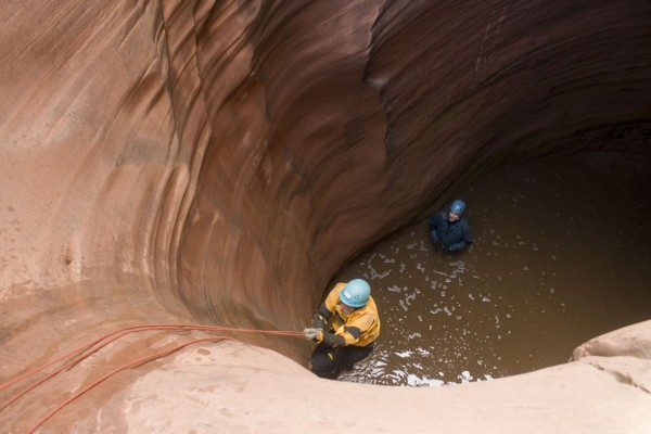 Pothole escapes in Capitol Reef.