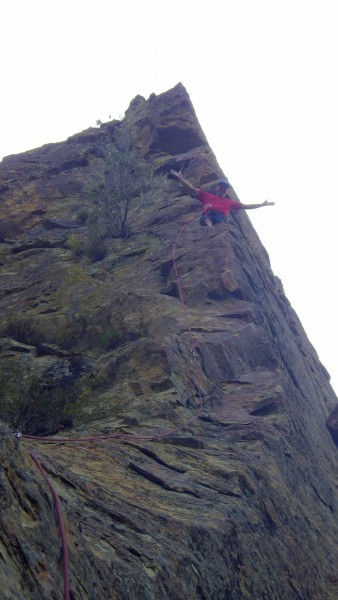 Arete #2.  180 feet of pure choss bliss.  Copious amount of large ants...