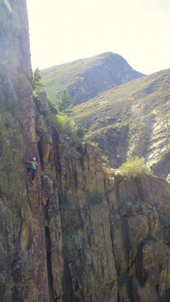 Other climbers on the first arete we did.