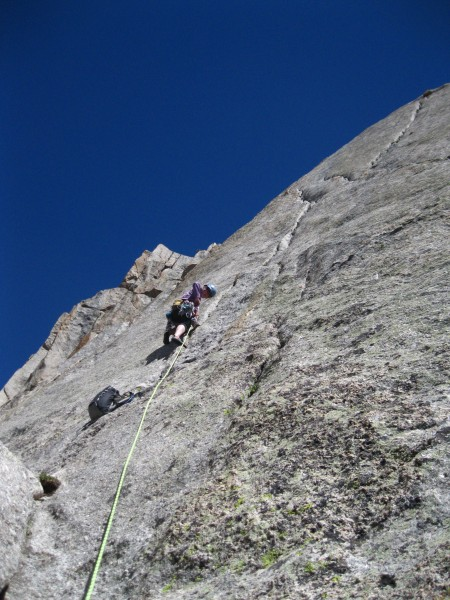 Anne on the left side of the k-crack on p3 of South Buttress
