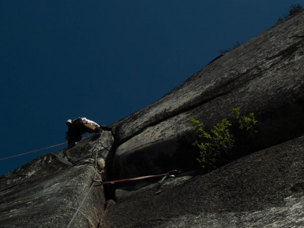 Another 5.10 multipitch John Howe route on The Papoose, Squamish, yest...