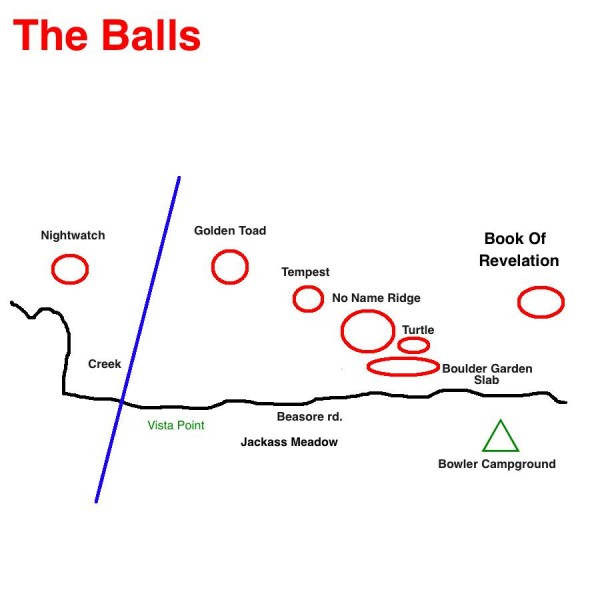 Map of The Balls area.