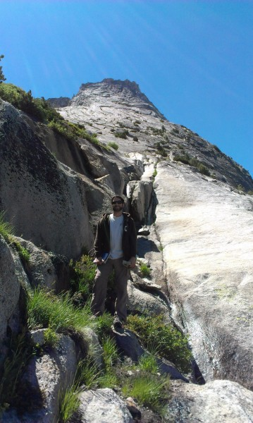 Ryan on the approach to Tenaya Peak.