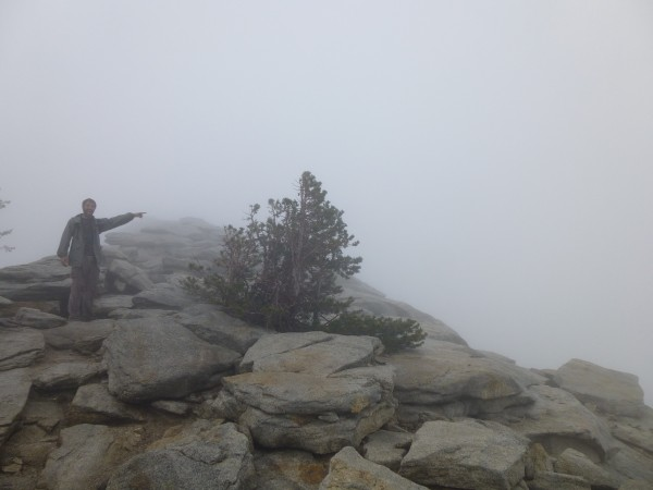 Taking in the awesome views from Clouds Rest.