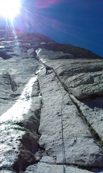 On my way up the first pitch.