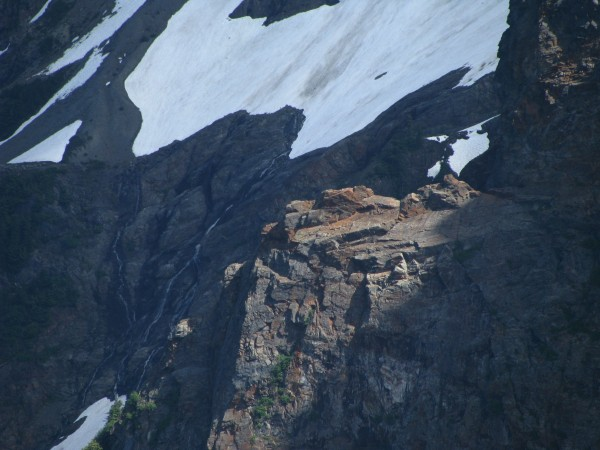 On the unclimbed NE ridge of Lady Pk. Shame that the rock is garbage