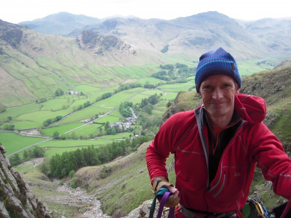 Great Langdale Valley below.