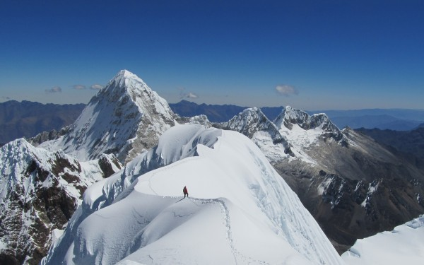 Quitaraju summit ridge.