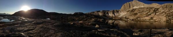 north peak pano at sunrise