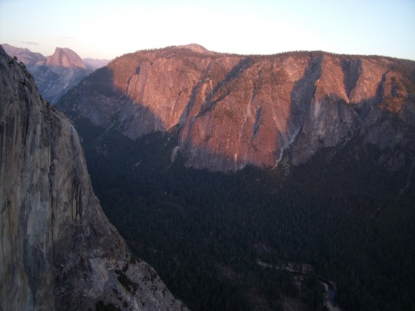 Alpenglow on Half Dome and the Sentinel