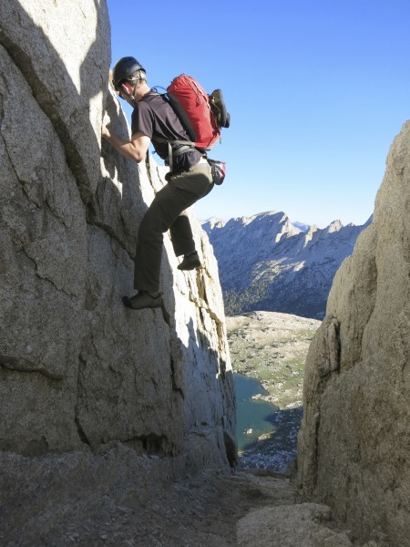 Will climbing the first 5th class notch we encountered on our romp up ...