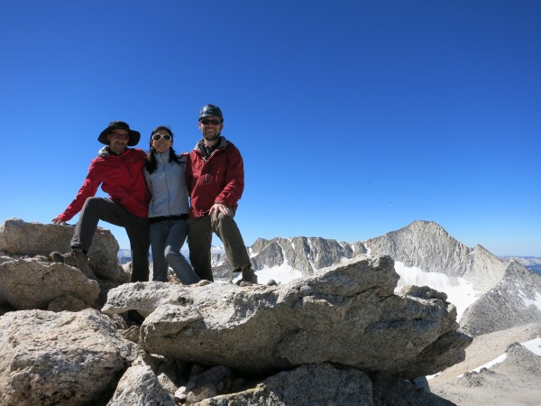 Will, Cherie and myself happy on our first summit, with our next targe...