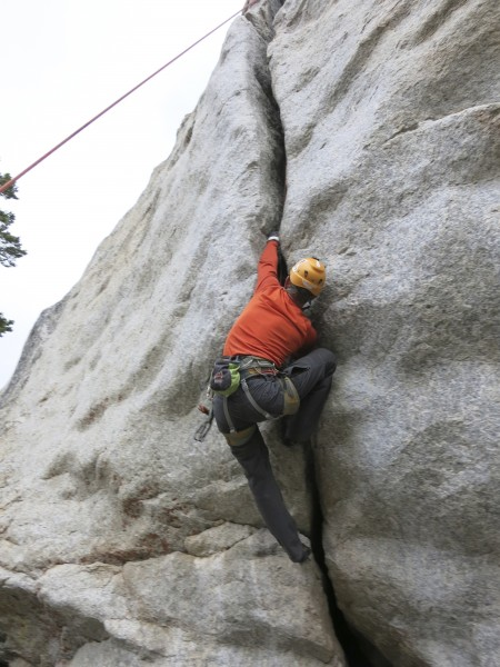 climbing some off-width on a rainy day.. ;-)  thats what your supp...